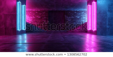 Bouwkundig podium abstracte vorm roze stralen 3D Stockfoto © djmilic