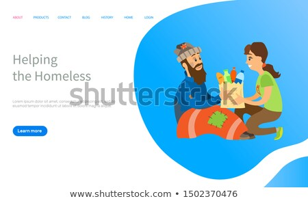 Social Charity to Vagabond, Helping Online Vector Stock photo © robuart