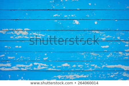 Peeling brown and blue paint wooden background Stock photo © tilo