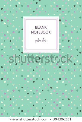 Frame template with purple polka dots Stock photo © bluering