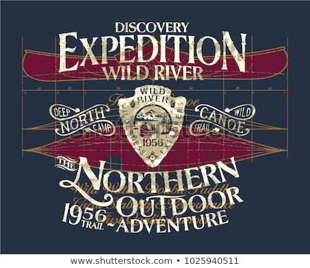 Forest Adventure Graphic for T-Shirt, prints. Vintage camp insignia. Retro summer winter travel unus Stock photo © JeksonGraphics