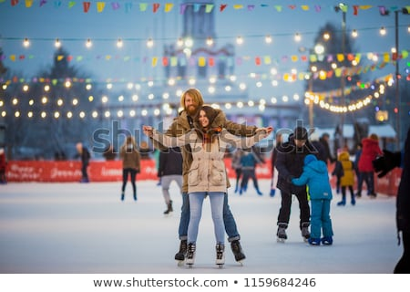 Figuurschaatsen man ijs christmas winter Stockfoto © robuart