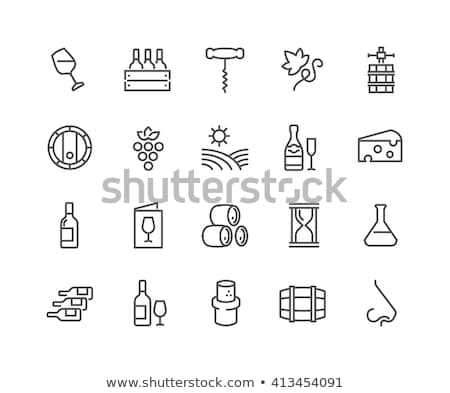 corkscrew for opening icon vector outline illustration Stock photo © pikepicture