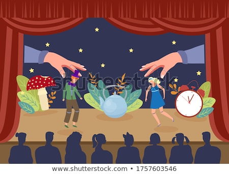 Scène mensen die circus illustratie vrouw boom Stockfoto © bluering