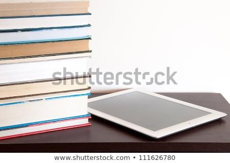 серебро читатель белый мобильных чтение Сток-фото © magraphics