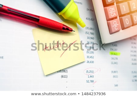 Find a mistake when auditing the financial statement or bank statement Stock photo © johnkwan