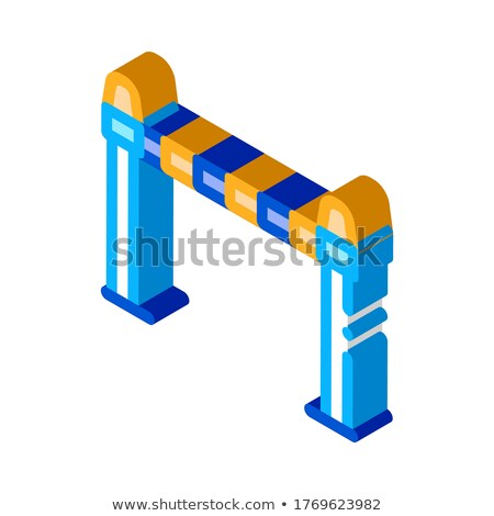 Police Enclosure isometric icon vector illustration Stock photo © pikepicture