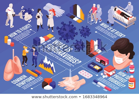 Human Microbe isometric icon vector illustration Stock photo © pikepicture