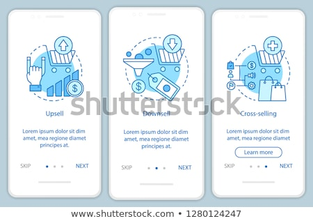 Marketing techniques app interface template. Stock photo © RAStudio