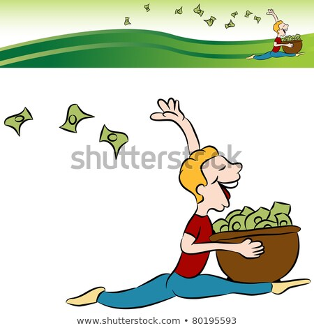 Man Running Tossing Money Stock photo © cteconsulting
