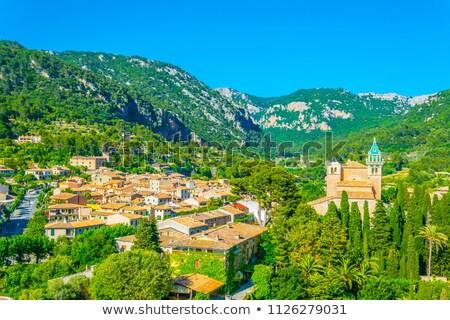 oude · dorp · majorca · Spanje · bloemen · gebouw - stockfoto © lunamarina