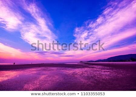 Blue sky with clouds,peninsula and wonderful sea. Stock photo © lypnyk2