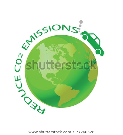 green earth with car reduce co2 stock photo © rufous