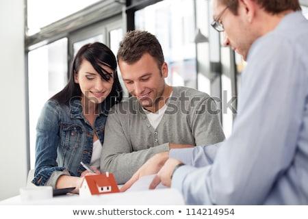Arquitecto planes calculadora negocios mujer Foto stock © photography33