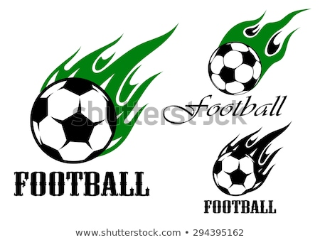 Soccer Tribal Graphic Image Stock photo © chromaco
