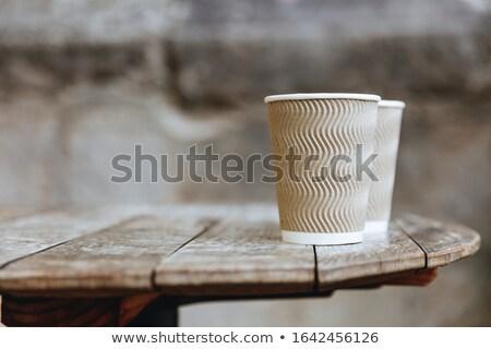 одноразовый · черный · бумаги · три · черный · кофе - Сток-фото © mnsanthoshkumar