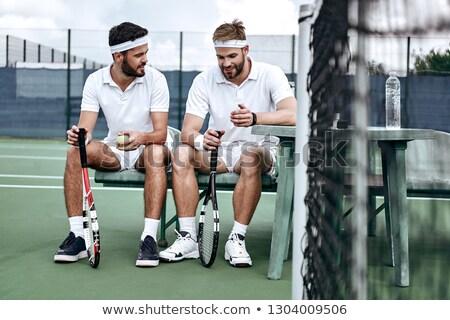 ベンチ · 水 · フィットネス · 健康 · テニス - ストックフォト © photography33