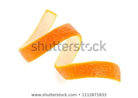 spirál · héj · mandarin · izolált · fehér · háttér - stock fotó © designsstock