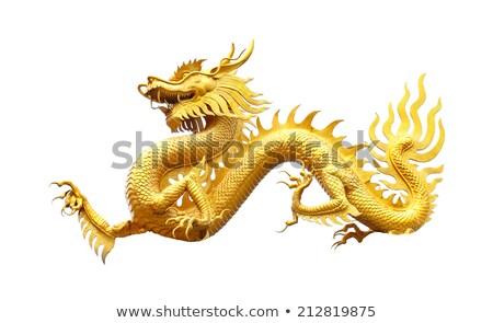 龍 · 像 · 孤立した · 中国のドラゴン · 白 · タイ - ストックフォト © ruslanomega