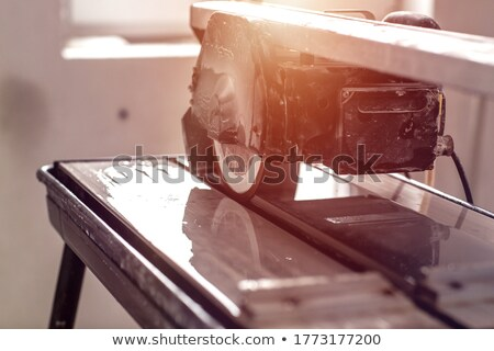 Tiler with workbench and material Stock photo © photography33