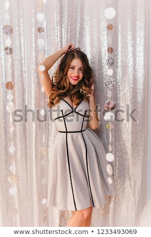 Beautiful luxurious fashion model brunette in dress studio shot Stock photo © gromovataya