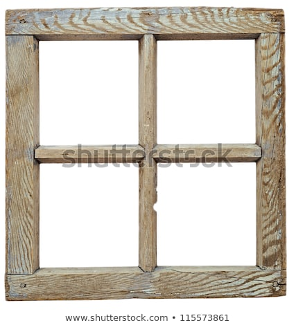 Very old grunged wooden window frame isolated in white  Stock photo © inxti