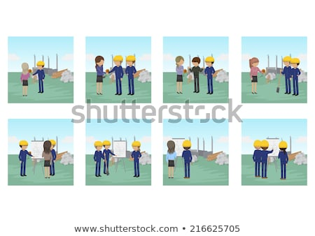 a female construction worker holding a shovel stock photo © photography33