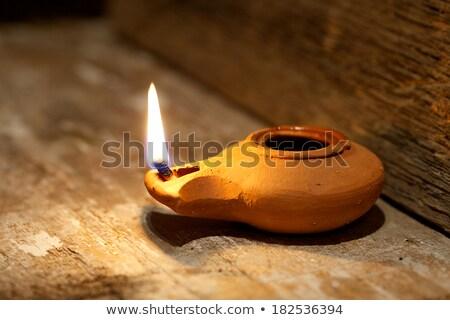Ceramic Oil Lamp isolated on white Stock photo © danny_smythe