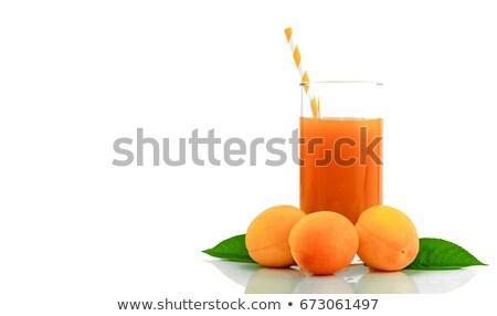 glass of apricot juice Stock photo © Masha