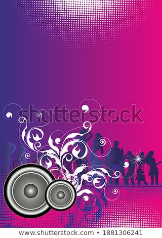 3d · pessoas · dança · alto-falantes · branco · festa · abstrato - foto stock © Quka