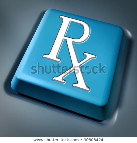 Prescrição rx azul computador chave teclado Foto stock © Lightsource