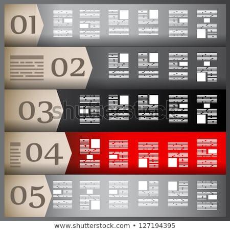 Ontwerpsjabloon papier display informatie Stockfoto © DavidArts
