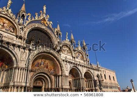 saint marks basilica details statues mosaics venice italy stock photo © billperry