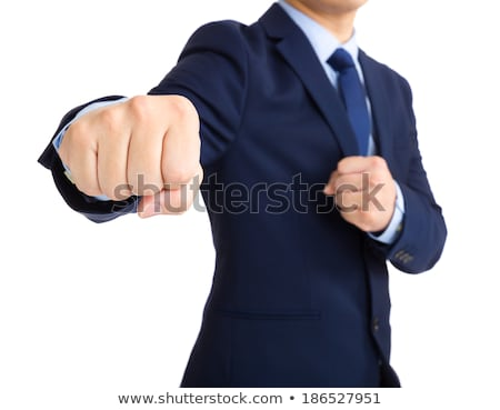 Businessman throwing punches Stock photo © photography33