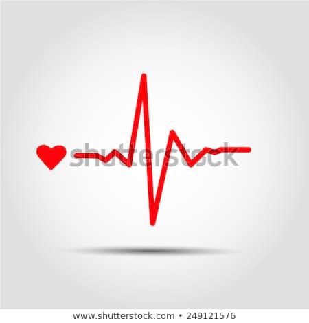 Heart beating monitor. EPS 10 Stock photo © beholdereye