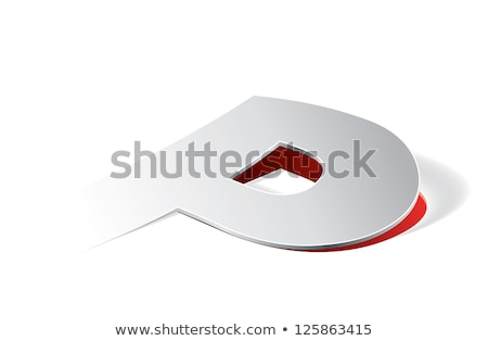 Paper folding with letter P in perspective view Stock photo © archymeder
