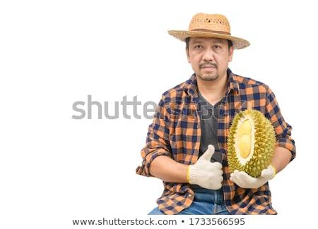 durian the king of fruit isolated on white background stock photo © johnkasawa