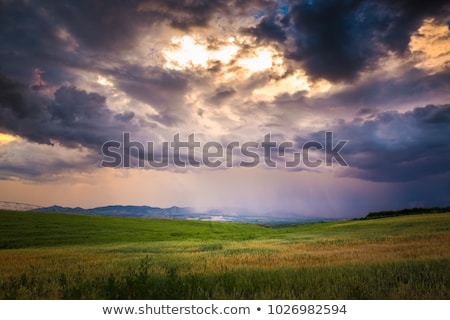 Beautiful Stormy Sky and Bright Sun Stock photo © maxpro