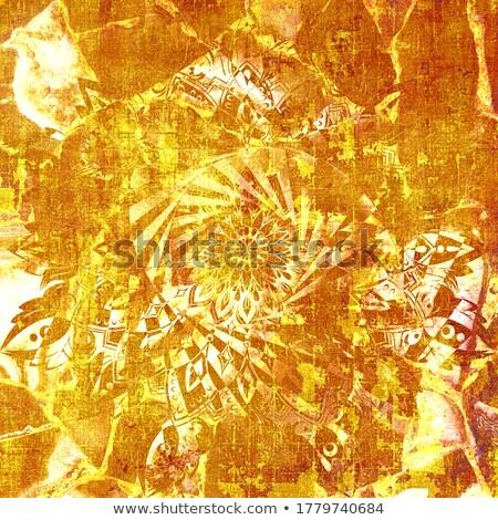shining yellow lights like mandala Stock photo © marinini