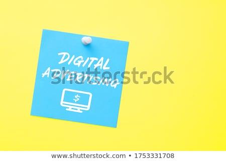 Márka citromsárga matrica közlöny dugó üzenet Stock fotó © tashatuvango