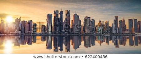 Catar linha do horizonte negócio cidade deserto edifícios Foto stock © compuinfoto
