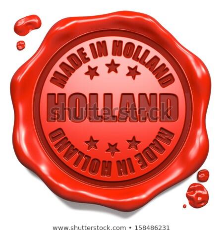 Holandês carimbo vermelho cera selar isolado Foto stock © tashatuvango