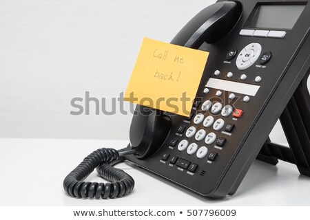 memo post it message on telefone in office stock photo © juniart