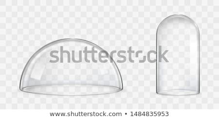 Vidro cúpula branco de volta limpar tigela Foto stock © prill