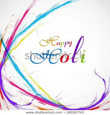 beautiful grunge holi festival colorful wave vector background stock photo © bharat