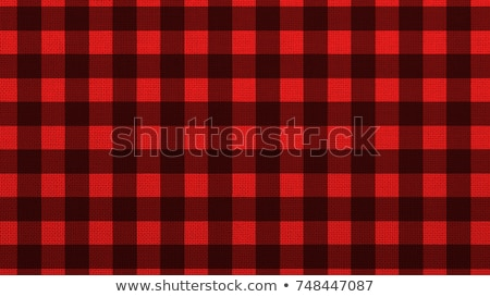 Red And Black Checkered Fabric Pattern Background Vector