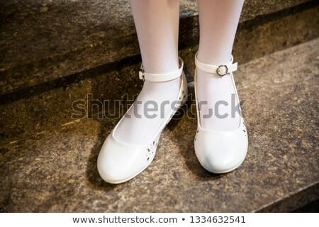 Elegáns koszorúslány cipők nők menyasszony bolt Stock fotó © gsermek