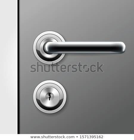 Illustration Of Doorknobs With Lock Stockfoto © GoMixer