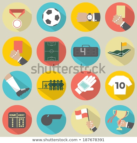 Scorebord icon grijs computer voetbal abstract Stockfoto © m_pavlov
