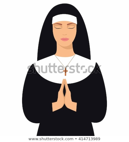 young nun in prayer position stock photo © bmonteny